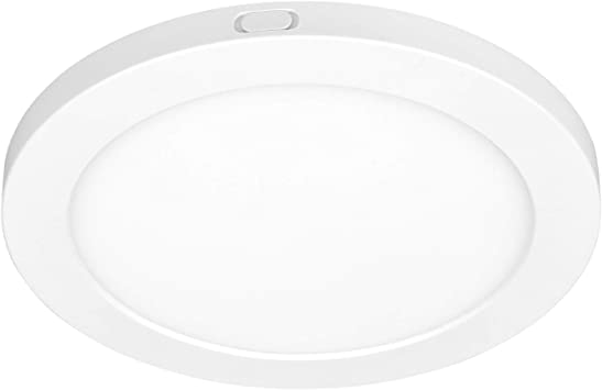 Asd 7 Inch Dimmable Led Flush Mount Ceiling Light Round Flat Panel Light Junction Box Or Recessed Can Installation 12 Watts 100w Eq 1058 Lm 4000k Bright Light Energy Star Etl Amazon Com
