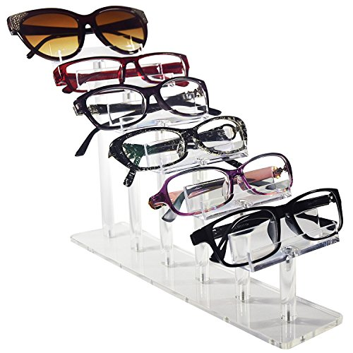 Mooca Acrylic 6 Tier Eyeglasses / Sunglasses / Pens Stand - Sunglasses Base 6