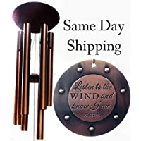 DIRECT SHIPPING Large Memorial Deep Tone Wind Chime Gift In Sympathy loss Copper Rush Shipping for Funeral Loss in Memory of Loved One Listen to the Wind Memorial Garden Remembering a loved one