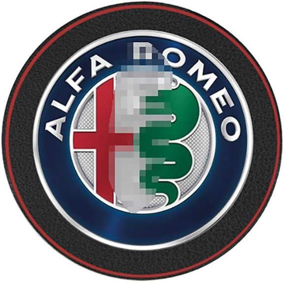 LIANGYUXIA 2 Piezas Alfombrillas Interiores del Coche monta/ña de Agua Almohadilla de Cuero Almohadilla Antideslizante para Alfa Romeo Giulietta 159147156 Giulia Stelvio