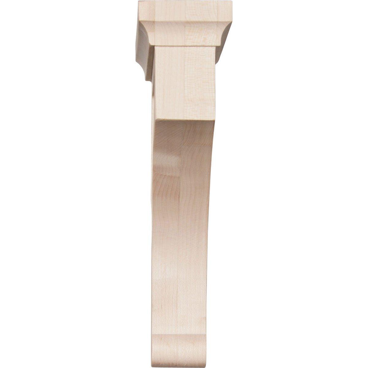 6-Pack Red Oak , Ekena Millwork BKTW02X07X10GORO-CASE-6 2 1//2 W x 7 D x 10 H Large Gomez Wood Bracket