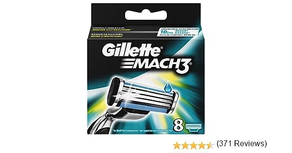 Gillette Mach3 Cuchillas de Afeitar para Hombre - 8 unidades: Amazon.es: Salud y cuidado personal