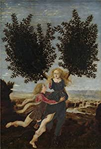 The Perfect effect Canvas of oil painting 'Antonio del Pollaiuolo-Apollo and Daphne,1470-80' ,size: 20x30 inch / 51x75 cm ,this Reproductions Art Decorative Prints on Canvas is fit for Foyer decoration and Home gallery art and Gifts