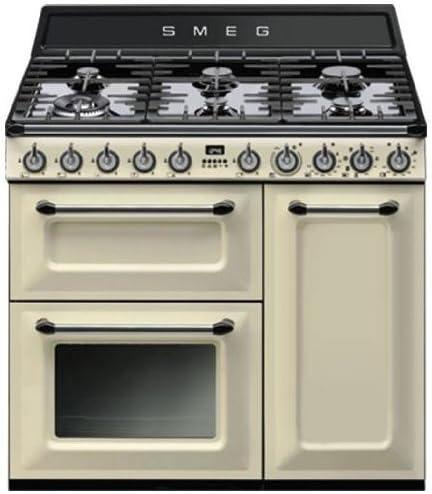 Smeg TR93P - Cocina (Cocina independiente, Crema de color, Botones ...