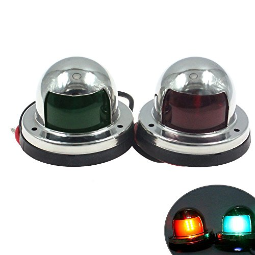 hsn_zem Marine Boat Pontoons Yacht Light 12V Stainless Steel LED Bow Navigation Lights by hsn_zem
