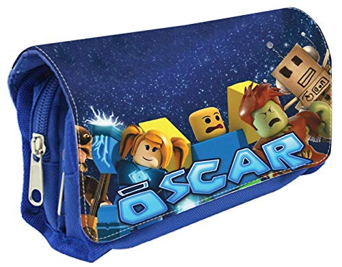 Personalised Blue Pencil Case Any Name Roblox Design Bag School