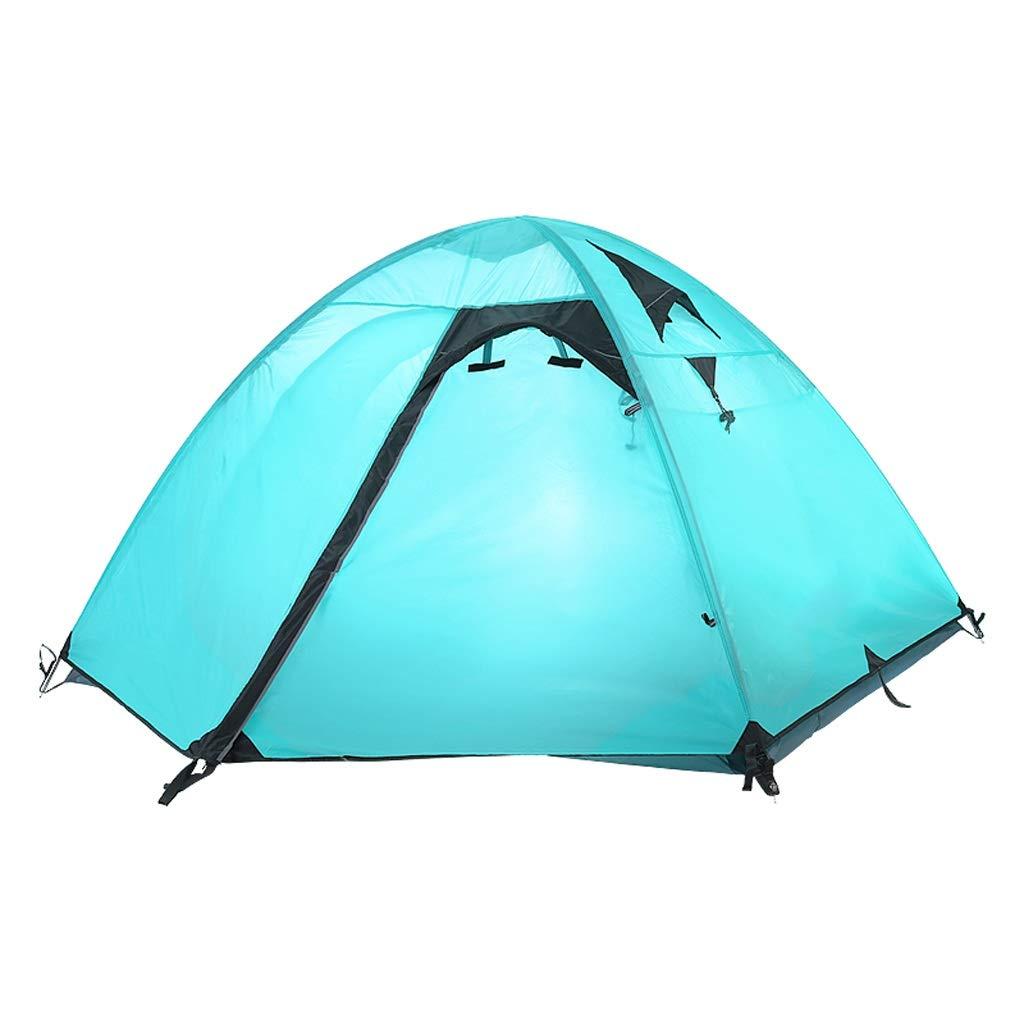 IDWOI-Tente De Camping Imperméable 2-3 Personnes Festival Tente Familiale Randonnée Ultra Légère Tente Dôme, 2 Couleurs (Couleur   bleu) bleu -