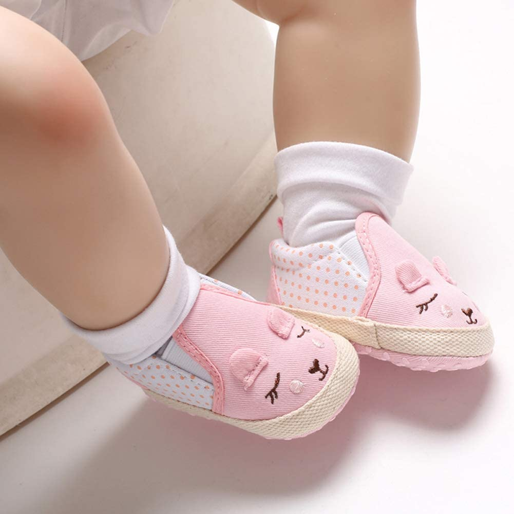 Pink 11cm Baby Shoes Cute Cartoon Rabbit Infant Baby Boy Girl Anti-Slip Crib Prewalker Toddler Shoes