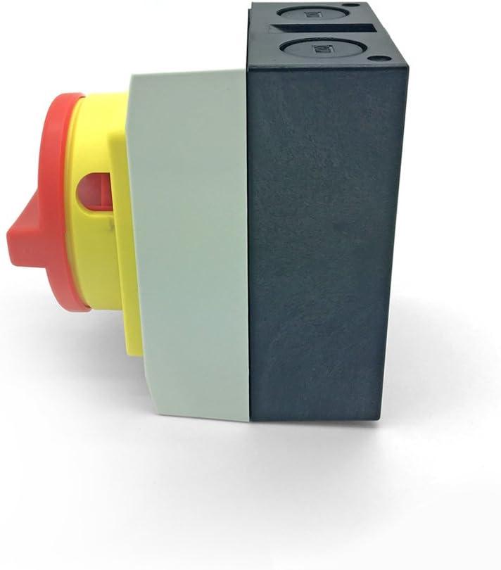 Hauptschalter 16A 4 polig 2 x Kunststoff Gehäuse IP65 Trennschalter 4P16A-G ARLI