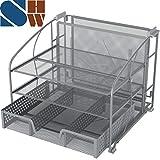 SimpleHouseware Desk Organizer 3 Tray w/Sliding