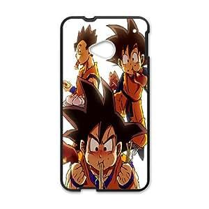 HTC One M7 Cell Phone Case Black Dragon Ball Z Goku Eating SLI_496524