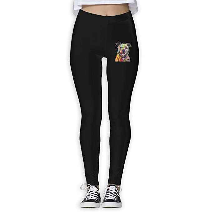 b0a3f1464381e2 Amazon.com: HTSS Pitbull Women's Yoga Pants Print Sports Gym Yoga Workout  Athletic Leggings Pants: Clothing