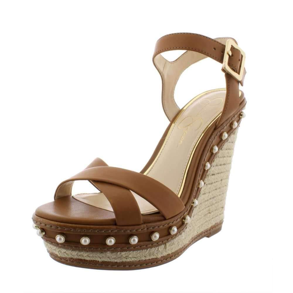 Suntan Jessica Simpson Aeralin Wedge Slingback Sandals, Black