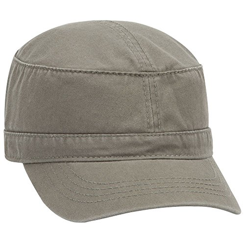 OTTO Garment Washed Superior Cotton Twill Military Cap - Ol. Green