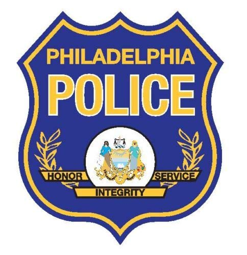 Workmas Sticker Philadelphia Police Pennsylvania Police Department Glossy Vinyl Decal, 2 INCH