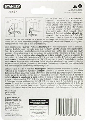 National Hardware N109-020 V1261 Automatic Gate Latch, Black