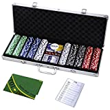 Goplus 500 Chips Poker Dice Chip Set 11.5 Grams Texas Holdem Cards (Small Image)