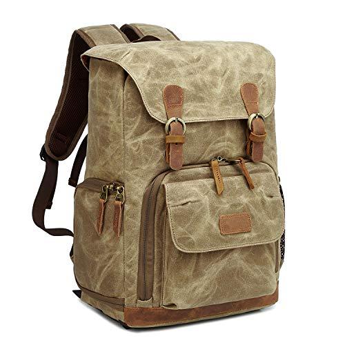 G-raphy Camera Backpack Waterproof Vintage for DSLR SLR Cameras,Laptops,Lenses and Other (Best Vintage Dslr Camera)