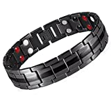 Product review for Starista Jewelry Pure Titanium Double Row 4 Elements Magnetic Health Bracelet Power Wristband for Men (Black)