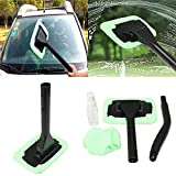 Automotive : ZCIPT Wonder Kit Auto Car Windshield Easy Glass Cleaner Wiper, Detachable Handle Brush, Cleaning Tool, Come with 2 Pads Washer Towel and 30ml Spray Bottle