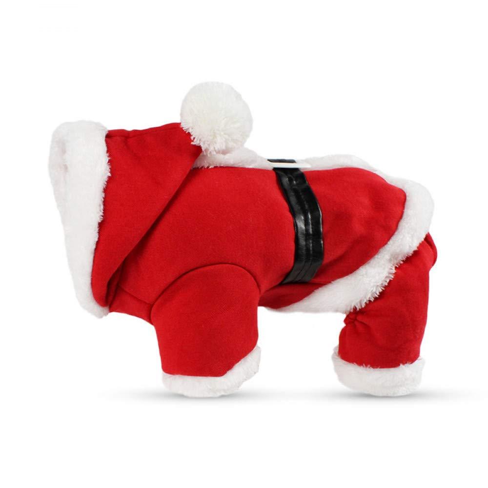 BAONUAN Vestiti Dell'Animale Domestico Vestiti del Cane di Natale Cappotto di Winte Abbigliamento Costume di Babbo Natale Vestiti di Natale per Cani Cute Puppy Outfit for Dog S-XL, S