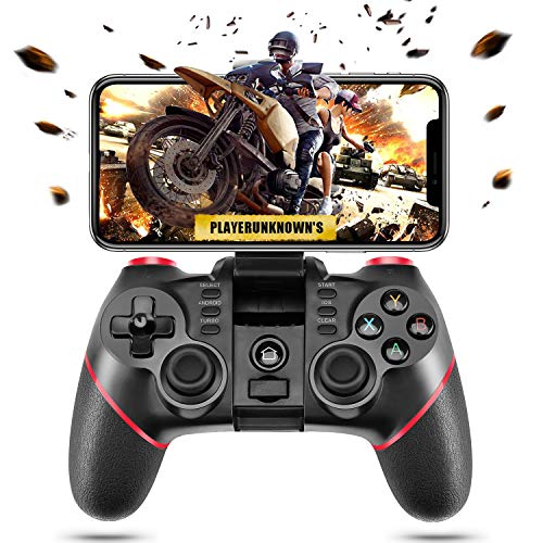 ACGEARY Wireless Bluetooth Android Game Controller Mobile Gaming Controller Gamepad Joystick Compatible for iOS/Android Phone/PC Windows/Tablet/Smart TV/TV Box/ PS3 (Best Wireless Controller For Android)