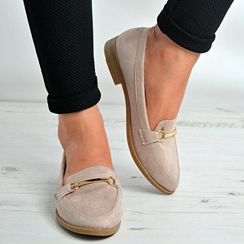 Summer Reino Nuevas Las mujer 3 los para Shoes Unido 4 deslizan 5 damas Bailarina Tamaño Dolly 6 niñas Rosa Casual 7 planos Pumps Ballet sobre 8 se talones qaHqr
