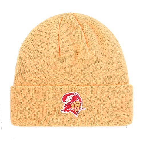 OTS NFL Tampa Bay Buccaneers Male Raised Cuff Knit Cap, Mango, One ()