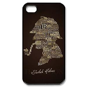 SUUER Sherlock Holmes Logo Benedict Cumberbatch Hard Case For Iphone 4/4S Cover case -Black CASE