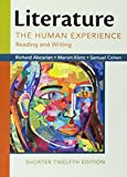 img - for Literature: The Human Experience, Shorter Edition: Reading and Writing book / textbook / text book