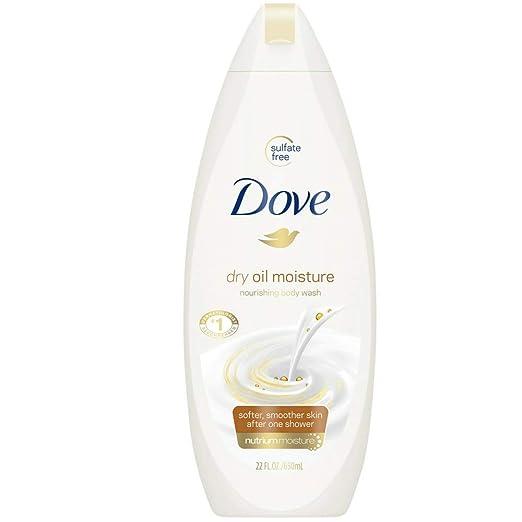 Dove Nourshing Body Wash, Dry Oil Moisture 22 oz (Pack of 4)