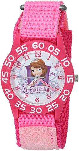 Disney Girl's 'Princess Sofia' Quartz Plastic and Nylon Casual Watch, Color:Pink (Model: WDS000266)