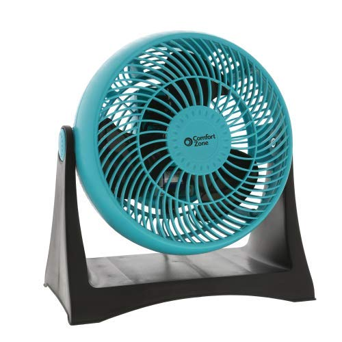 World & Main Comfort Zone 8-Inch Velocity Turbo Fan, Teal