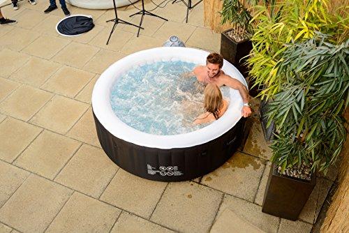 Lay-Z-Spa 54123-BNNX16AB02 Miami Hot Tub, Airjet Inflatable Spa, 2-4 Person - Black
