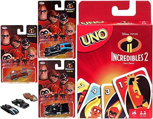 Car Card Game Incredible Disney Uno Mini Vehicle