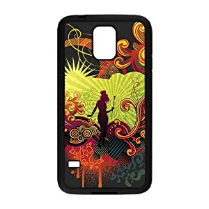 Creative Girl Graffiti Custom Protective Hard Phone Cae For Samsung Galaxy S5