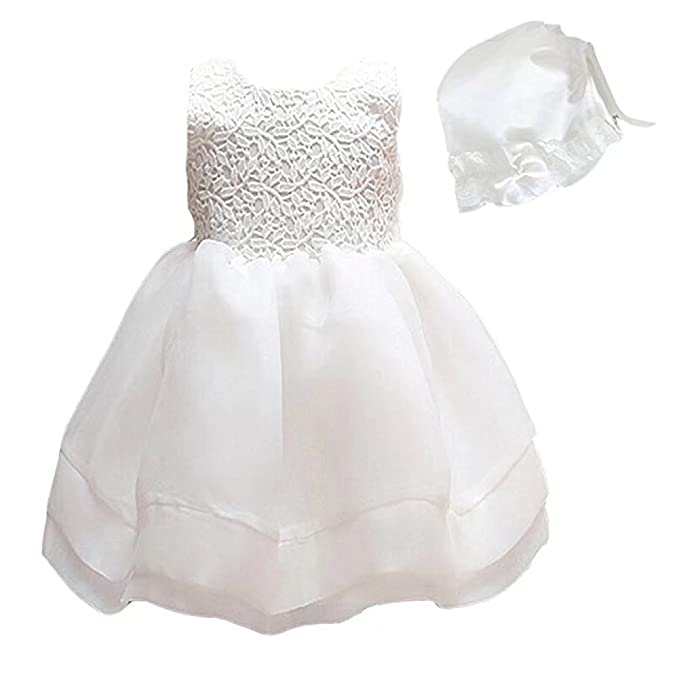 Amazon.com: ZAH Baby 2PCS Baby Girls Dresses Christening Baptism ...