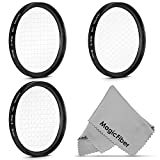 58mm Star Filter Set for Canon Nikon Sony Olympus and Other DSLR Cameras - Includes: 58mm 4-Point, 6-Point and 8- Point Star Cross Filter + MagicFiber Cleaning Cloth