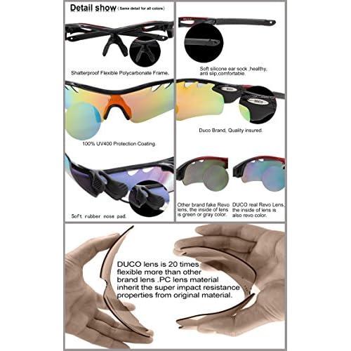 79b60389e3 Duco Lente polarizada marco de de sol deportivas para la caja de protección  UV400 Hombre por