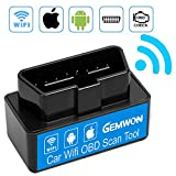 Car Wifi OBD 2, Mini OBD2 Scan Tool, Gemwon Mini Car OBD2 OBDII Scan Tool Auto Diagnostic Scanner Code Reader/Scan Tool Check Engine Light for IOS & Android (Black)