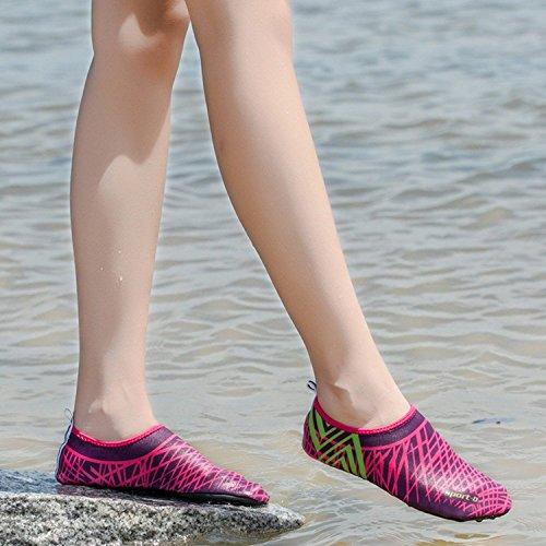 Aqua Women Swim Skin Shoes Barefoot Men Water Rose Sock Shoes Red Boating for Surfing Pool Quick Dry MAYZERO Beach Bqx6zwgw