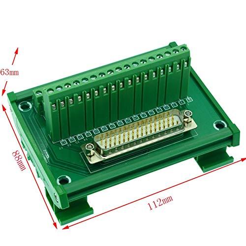 (Gimax Servo DB50 male DIN Rail Mount Interface Module, DB50 male Breakout Board, DB50 male to screw terminal block)