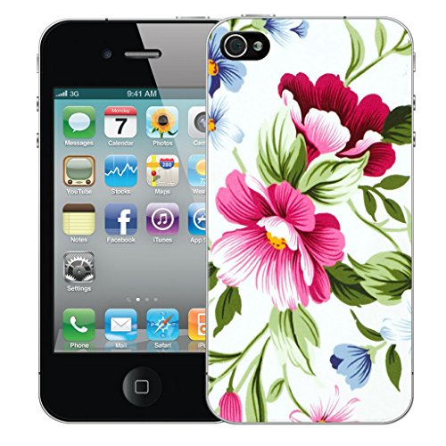 Mobile Case Mate iPhone 5 Silicone Coque couverture case cover Pare-chocs + STYLET - Green Flower pattern (SILICON)