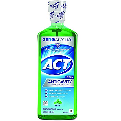ACT Anticavity Fluoride Rinse Mint 18 oz ( Pack of 4)