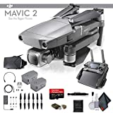 DJI Mavic 2 Pro (CP.MA.00000019.01) 64GB Memory Card, Extra Battery, Propeller Guard, Cleaning Kit, VR Viewer More - Essential Bundle