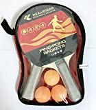 MEALIDIEAN Sports Table Tennis to Go - Includes 2 Ping Pong Paddles, 3 Balls