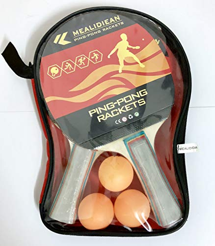 MEALIDIEAN Sports Table Tennis to Go - Includes 2 Ping Pong Paddles, 3 Balls by MEALIDIEAN