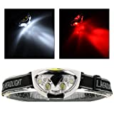 Super Popular 6x LED 1200 Lumens Headlamp Outdoor Fishing Headlight Camping Waterproof Lights Cycling Color Black