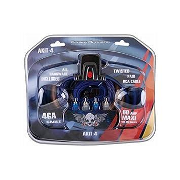 amazon com power acoustik akit 4 amplifier wiring kit car electronics rh amazon com Speaker Wiring Kit Car Speaker Wiring Kit