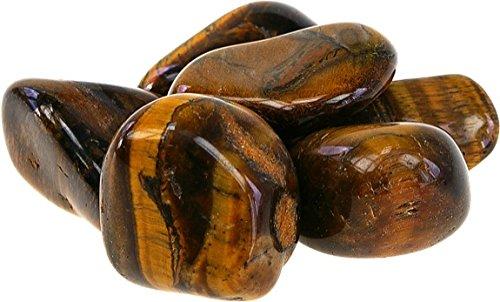 ILHORIN ESOTERISME Lot de 150 pierres roul/ées ou polies oeil de tigre